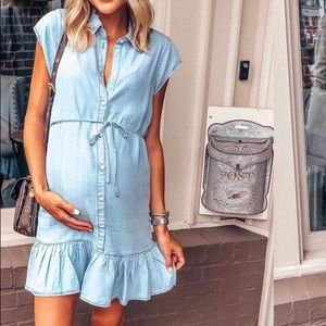 BB Dakota Dresses - BB Dakota chambray swing dress